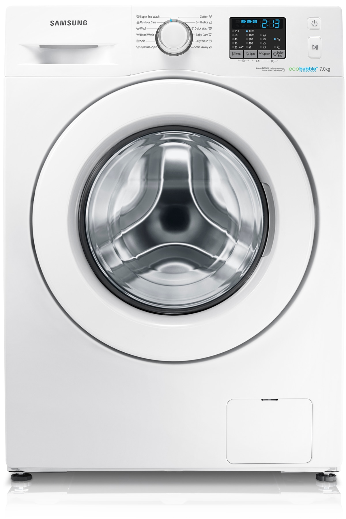 WF70F5E0W2W/EU 7kg 1200rpm ecobubble™ Washing Machine Front White
