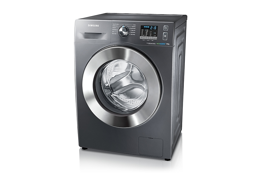 WF70F5E2W4X/EU 7kg 1400rpm ecobubble™ Washing Machine R perspective Grey