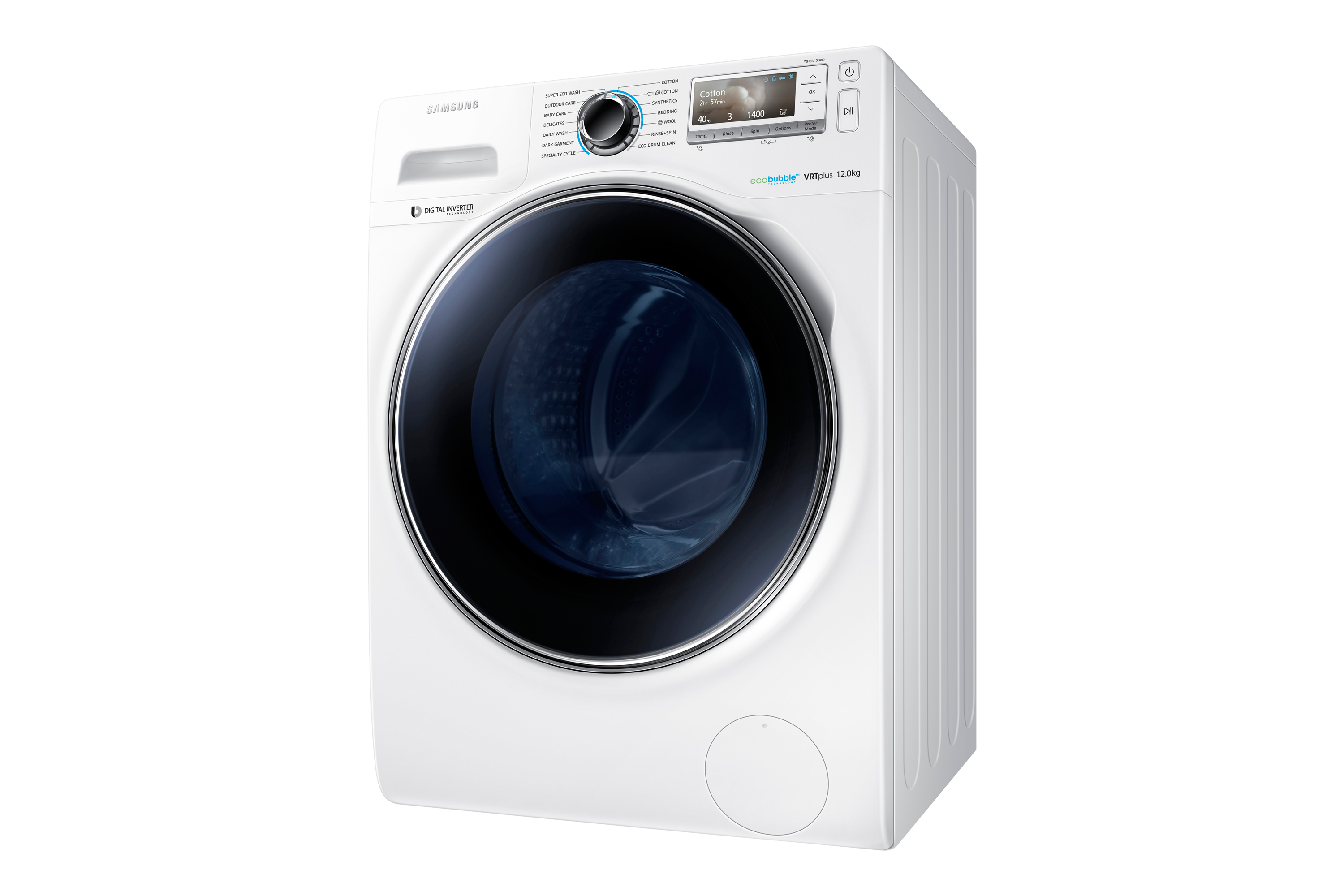 WW12H8420EW/EU 12kg ecobubble™ Washing Machine Front White