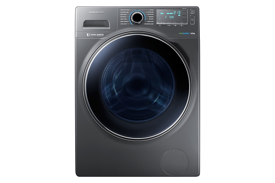 WW80H7410EX/EU 8kg ecobubble™ 1400rpm Washing Machine Front Grey