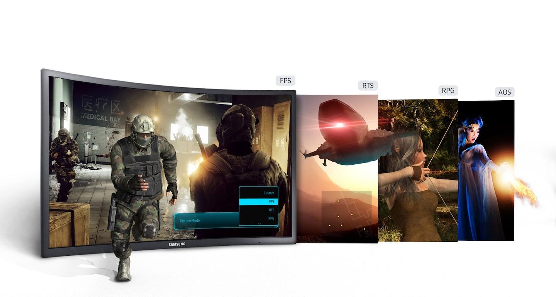 màn hình cong, màn hình samsung, màn hình 27 inch, màn hình máy tính, LC27FG70FQEXXV