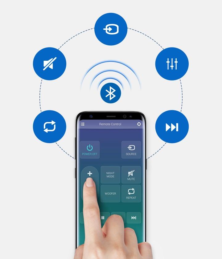Loa thanh soundbar Samsung 2.1 HW-R450 200W Quản Lý Âm Thanh Từ Xa