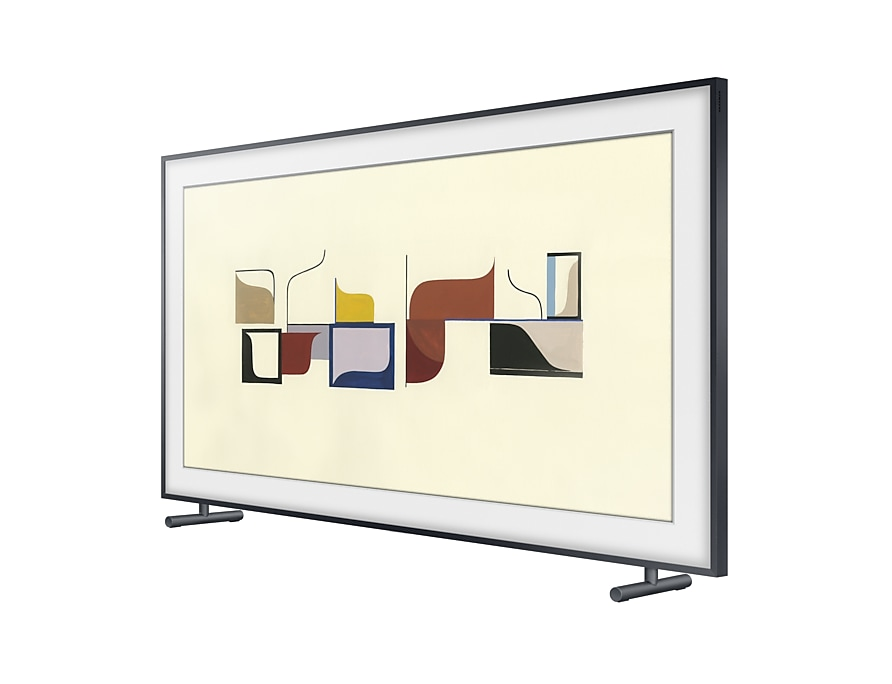 "Samsung 55"" The Frame 4K UHD TV : Right Perspective With Stand Five Black"