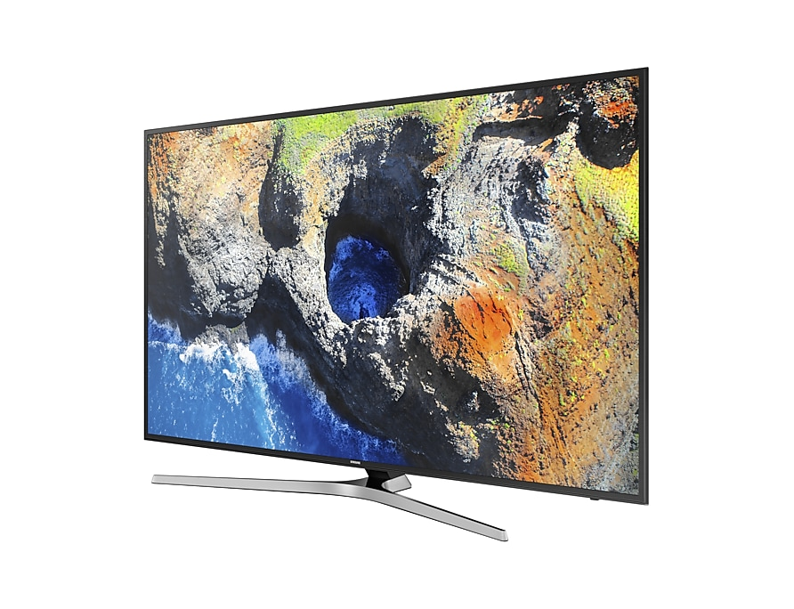 "Samsung 75"" MU7000 4K UHD TV : Right Perspective Two Black"