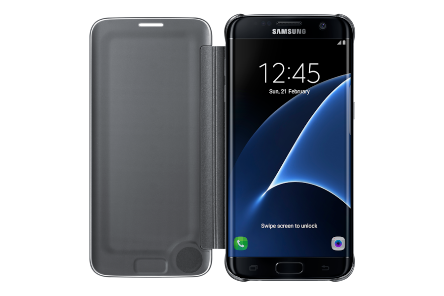 Galaxy S7 edge Clear View Cover  ZG935 Front Open Black