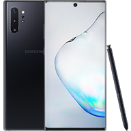 Galaxy Note10+ Aura Black Front and Back