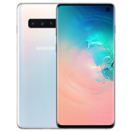 galaxy s10 prism white front and rear