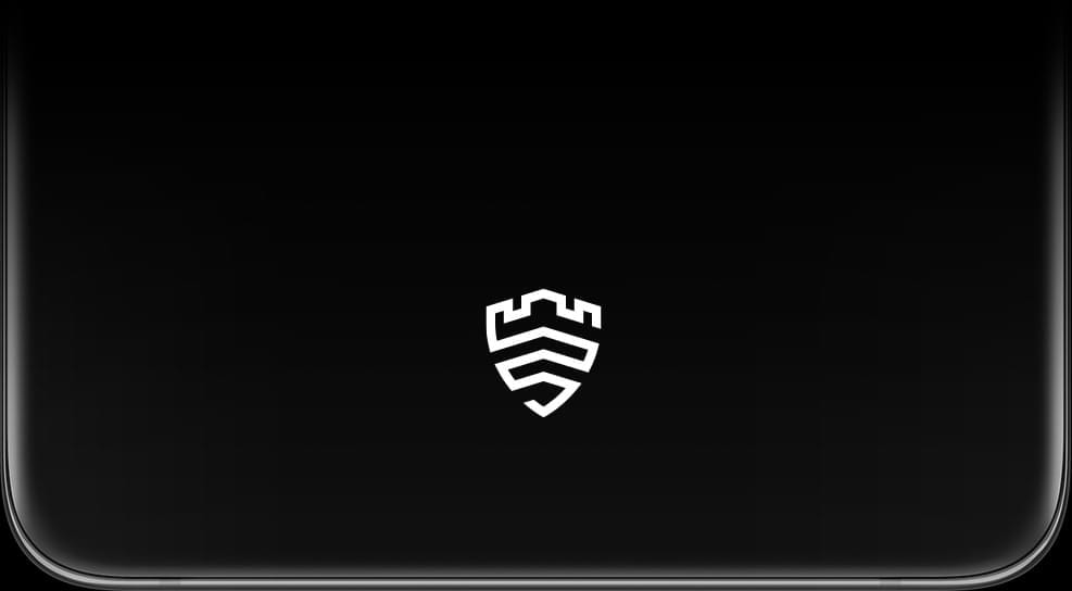 Close-up of the unlocking area on Galaxy S21 Ultra 5G's display with the Samsung Knox logo onscreen.
