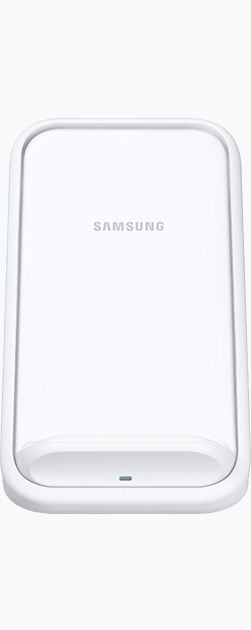 Wireless Charger Stand in White seen from the front