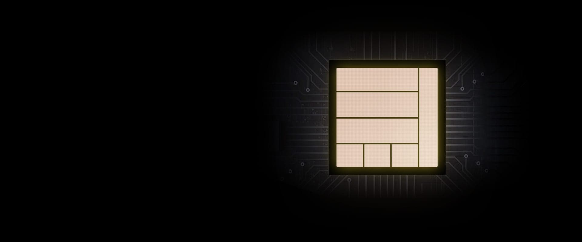 An illustration of a chip providing powerful performance to Galaxy S20 FE.