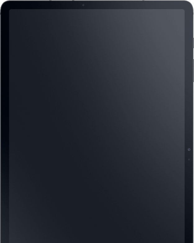 The Galaxy Tab S7+ screen is off.